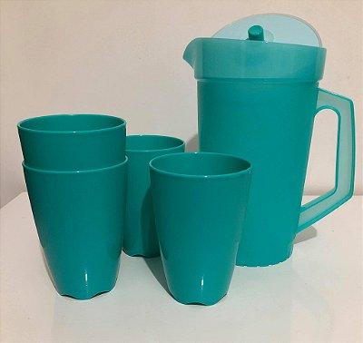 Tupperware Kit Servir Jarra 2 litros + 4 Copos 525 ml cada