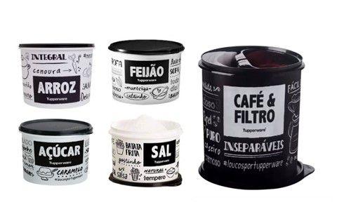 Tupperware KIt PB Fun 5 Peças Com Caixa Café e Filtro
