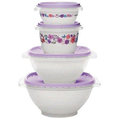 Tupperware Kit Tigela Sensação Primavera 4 peças