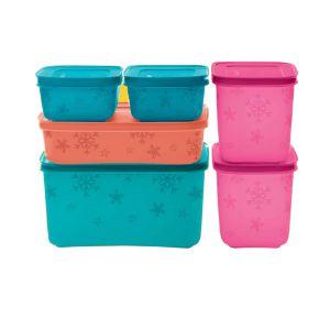 Tupperware Freezer Line Kit com 6 peças