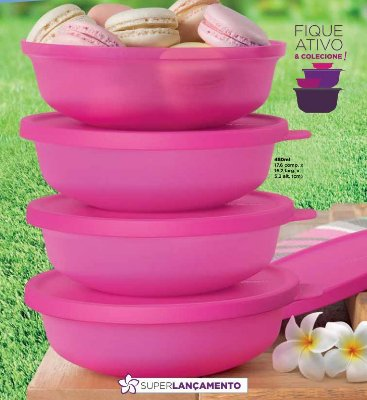 Tupperware Kit 4 peças Tigela Aloha 450 ml