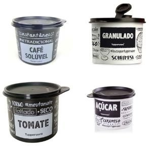 Tupperware Kit Redondinha PB _ Granulado-Tomate -Café Solúvel - Açúcar