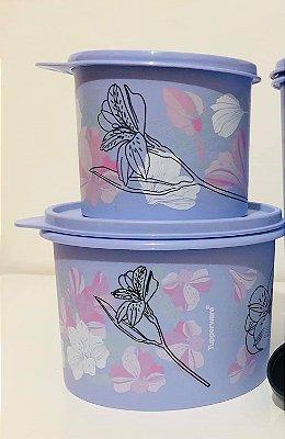 Tupperware Kit Caixas Flores 2 peças -1,1 litros + 500 ml