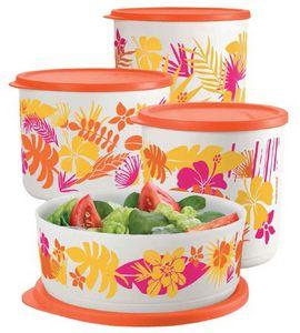 Tupperware Refri Line Redondo Havaí 4 peças