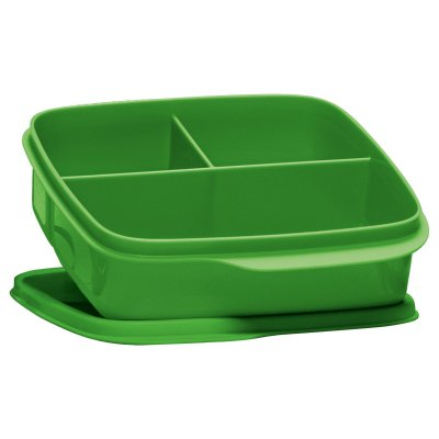 Tupperware Basic Line com divisórias Verde 550 ml
