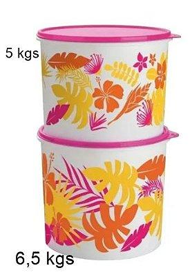 Tupperware Kit Caixas Havai 2 peças 5 kgs +6,5 litros