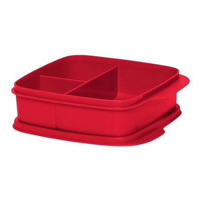 Tupperware Basic Line com divisórias Vermelha 500 ml