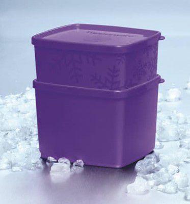 Tupperware Jeitoso+Jeitosinho neve Roxo Kit 2 peças - 800 ml + 400ml