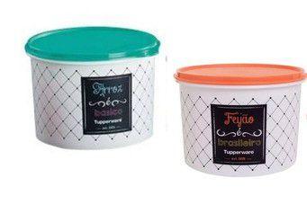 Tupperware Caixa Arroz 2 kgs + Feijão 2,0  kgs  Bistrô - KIT 2 PEÇAS