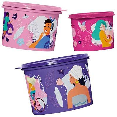 Tupperware Kit Caixas Linha Mulheres - 3 peças