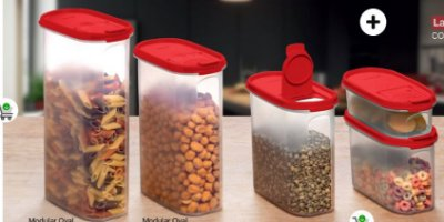 Tupperware Modular Oval Dispenser Kit 5 Peças