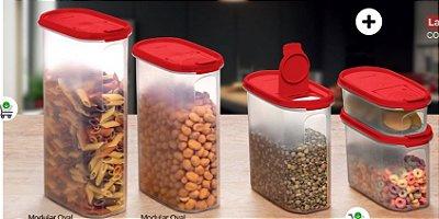 Tupperware Modular Oval Dispenser Kit 5 Peças
