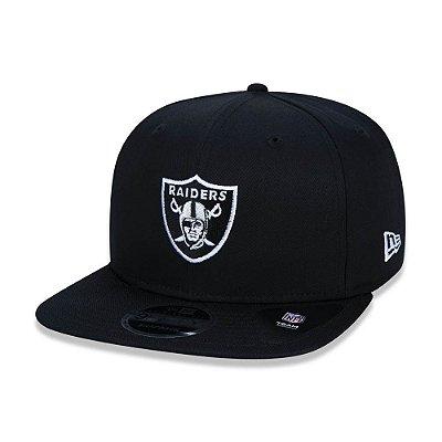 Boné New Era 940 Oakland Raiders Aba reta Preto - Snapback