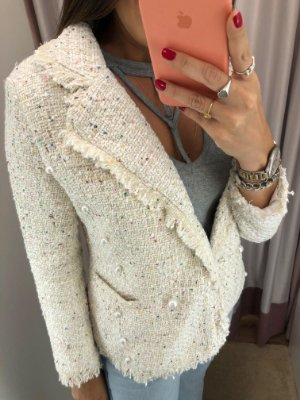 CASACO TWEED OFF WHITE