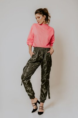 CROPPED MOLETON NEON