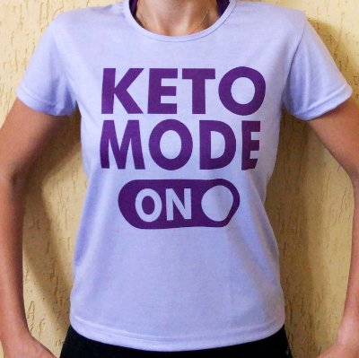 Camisa Keto Mode On - Baby Look Lilás