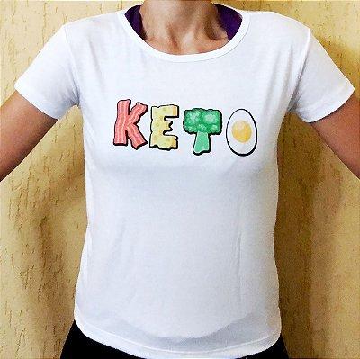 Camisa Keto - Baby Look Branca