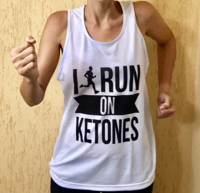 Camiseta Regata I Run On Ketones - Masculina Branca
