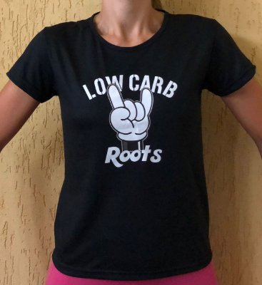 Camisa Low Carb Roots - Baby Look Preta