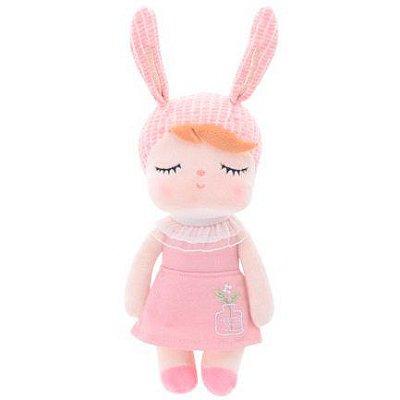 Boneca Mini Metoo Doll Angela Jardineira Salmão
