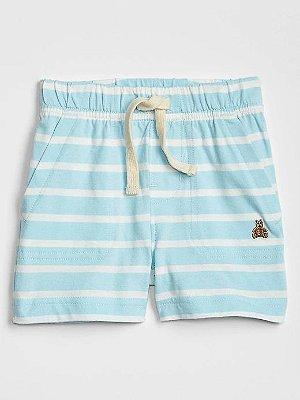 Short Baby GAP Listrado - Azul
