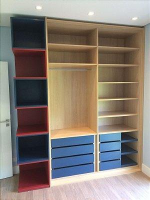 Guarda-roupas / closet / guarda-roupas aberto (Projetos)
