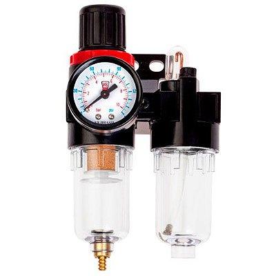 Filtro Regulador de Ar para Compressor conexão 1/4 FA08  V8 Brasil