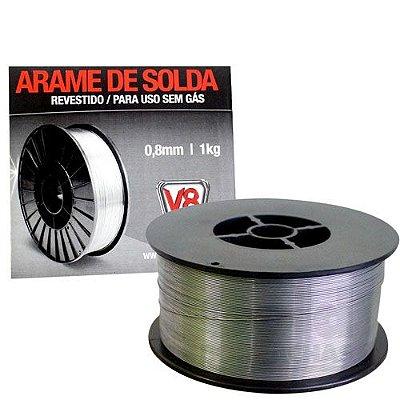 Arame de Solda Mig Revestido 0,8mm 1Kg V8 Brasil
