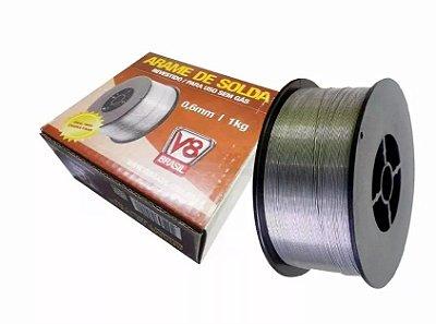 Arame para Solda Mig Revestido 1 Kg Sem Gás 0.6mm V8 Brasil