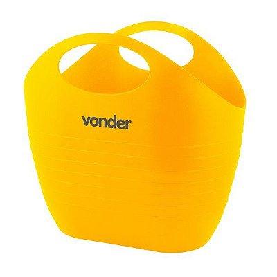 Bolsa Plástica Amarela Multiuso para Ferramentas 8,5 Litros Vonder