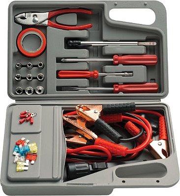 Maleta de Ferramentas Kit de Emergência para Automóvel 32 peças Eda