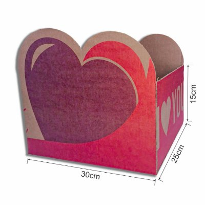 Caixa de Papelão -  Cesta Dia dos Namorados 300x230x250