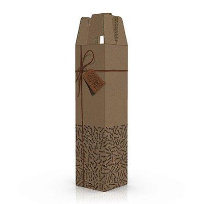 Caixa de Papelão Dia dos Pais para 1 Garrafa de Vinho  - C:8 x L:8 x A:33 cm (Kit c/ 10 unidades)