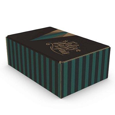 Caixa de Papelão Dia dos Pais - C:30 x L:20 x A:11 cm (Kit c/ 10 unidades)