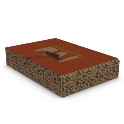 Caixa de Papelão Dia dos Pais - C:22 x L:16 x A:4 cm (Kit c/ 10 unidades)