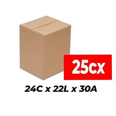 Caixa de Papelão para Sedex Correio e E-Commerce - C:24 x L:22 x A:30 cm (Kit c/ 25 unidades)