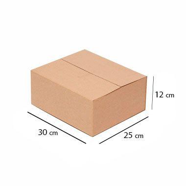 Caixa de Papelão para Sedex Correio e E-Commerce - C:30 x L:25 x A:12 cm (Kit c/ 25 unidades)