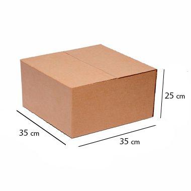 Caixa de Papelão para Sedex Correio e E-Commerce - C:35 x L:35 x A:25 cm (Kit c/ 5 unidades)