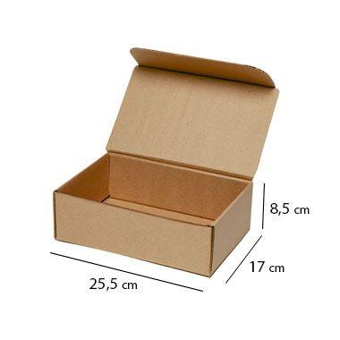 Caixa de Papelão para Sedex Correio e E-Commerce - C:25,5 x L:17 x A:8,5 cm (Kit c/ 25 unidades)