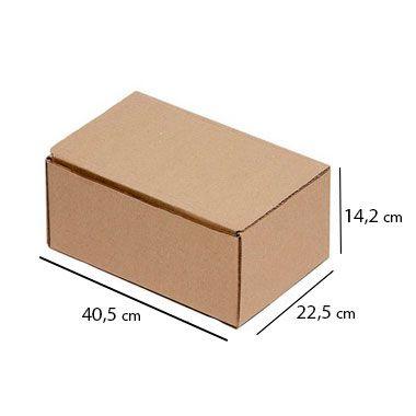 Caixa de Papelão para Sedex Correio e E-Commerce - C:40 x L:22 x A:14 cm (Kit c/ 25 unidades)