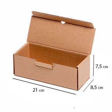 Caixa de Papelão para Sedex Correio e E-Commerce - C:21 x L:8,5 x A:7,5 cm (Kit c/ 25 unidades)