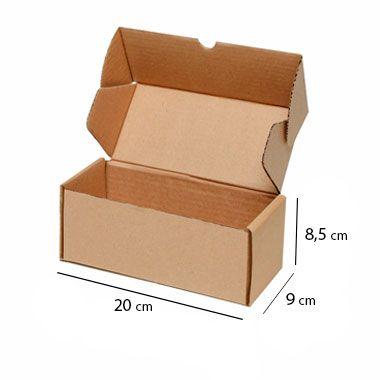 Caixa de Papelão para Sedex Correio e E-Commerce - C:20 x L:9 x A:8 cm (Kit c/ 25 unidades)
