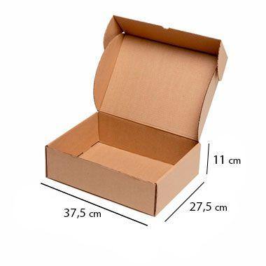 Caixa de Papelão para Sedex Correio e E-Commerce - C:37,5 x L:27,5 x A:11 cm (Kit c/ 25 unidades)