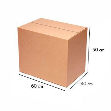 Caixa de Papelão para Transporte e Mudança - C:60 x L:40 x A:50 cm (Kit c/ 5 unidades)