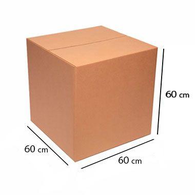 Caixa de Papelão para Transporte e Mudança - C:60 x L:60 x A:60 cm (Kit c/ 5 unidades)