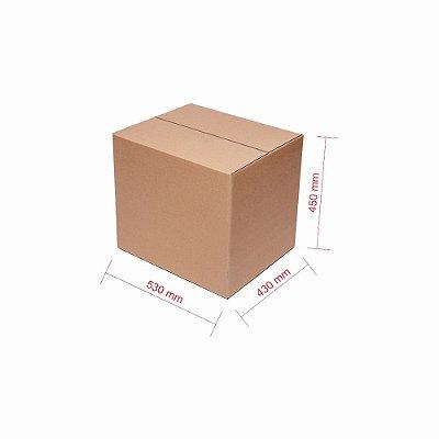 Caixa de Papelão para Transporte e Mudança Reforçada - C:53 x L:43 x A:45 (5 Peças R$10,35/Pç)