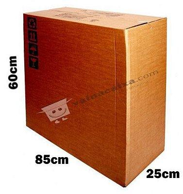 """Caixa de Papelão para Transporte TV LCD e Monitor 32""""- C:85 x L:25 x A:60 (1 Peça)"""
