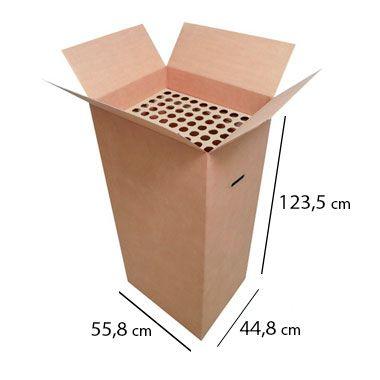 Caixas de Papelão para Descarte de Lâmpada Fluorescentes - C:55 x L:44 x A:123,5 cm (1 unidade)