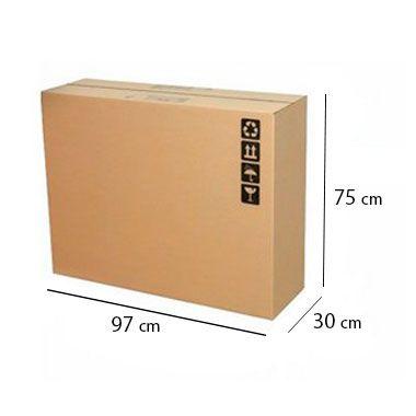 """Caixa de Papelão para Transporte TV LCD e Monitor 37""""- C:97 x L:30 x A:75 cm (1 unidade)"""