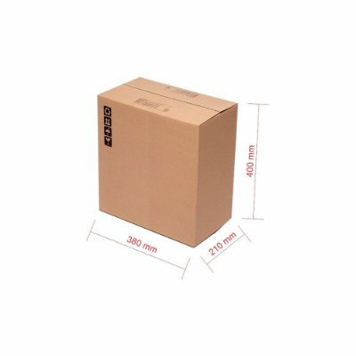 Caixa de Papelão para Transporte e Mudança Reforçada - C:38 x L:21 x A:40 (Kit 10 Peças)